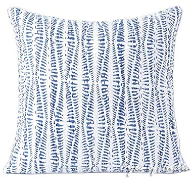 Eyes of India 16  Blue Kantha Colorful Decorative Throw Sofa Cushion Couch Pillow Cover Indian Bohemian Boho