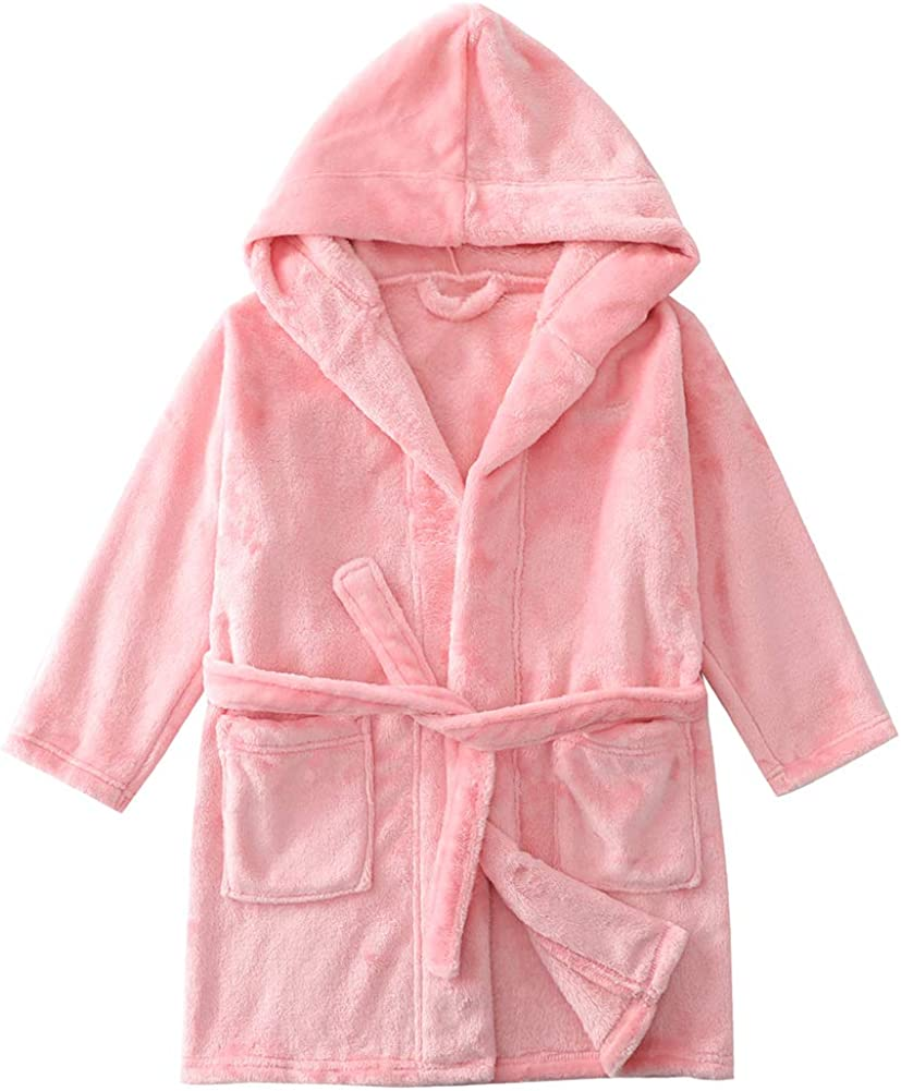 Kids Robe Girls Boys Pockets Long Sleeve A surprise price is realized Max 76% OFF Bathrobe