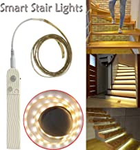 Iusun Smart Stair Light LED Night Induction Lamp, Christmas DIY Indoor Outdoor Light Sensor Wall Light For Garden Pathways Yard Hallway Bathroom Step Stair Deck Decor (Yellow)