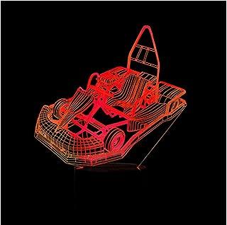 Personalizar Kart Creativo 3D Grieta Luz de la noche Colorido Toque Control remoto Regalo Decoracion Inicio Personalidad Nuevo estilo Dormitorio de los niños