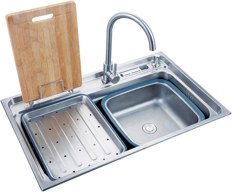 Küche Sinks, zeitgenssisches rechteckiges Sink-Material ist Edelstahl-Küche Sink Küchen-Faust Küchenwasserabfluss