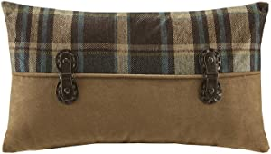 Woolrich Hadley Plaid Pieced Shams Accent Throw Pillow, Lodge/Cabin Pieced Oblong Fashion Decorative Pillow, 12X20, Multi