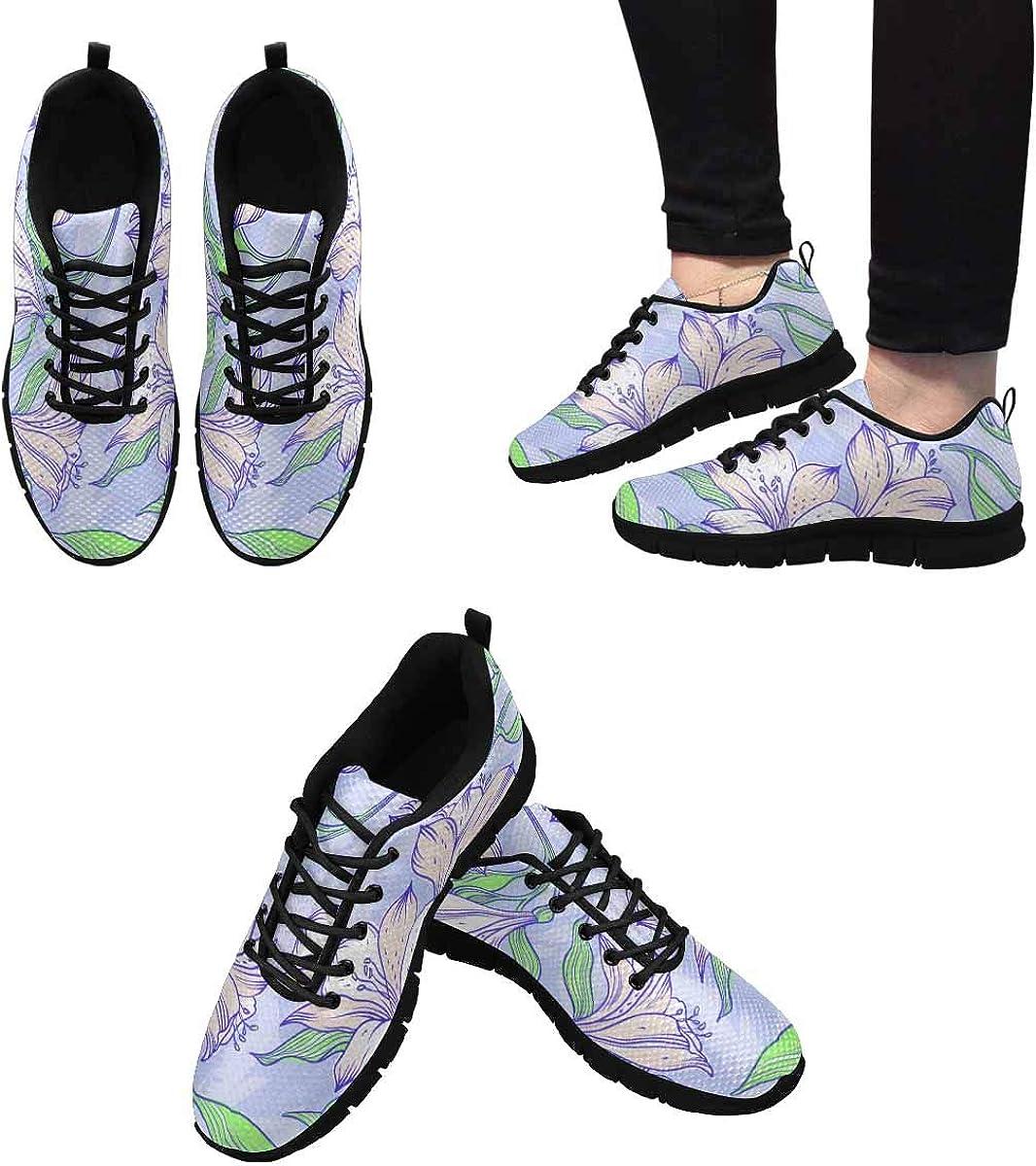 INTERESTPRINT Alstroemeria Flowers Women's Breathable Comfort Mesh Fashion Sneakers