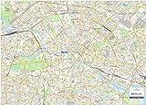 Mapa de la ciudad de Berlín - mapa de pared laminada