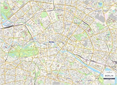 Berlin Stadtkarte - laminierte Wandkarte