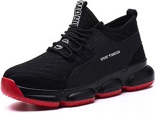 YISIQ Chaussures de Sécurité Homme Femmes Chaussures de Travail Embout Acier Protection Ultra légère et Indestructible Res...