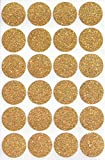 Royal Green Gold Invitation Seal Dots 1 Round 25 mm - Dot Glitter Stickers - one inch Roun...