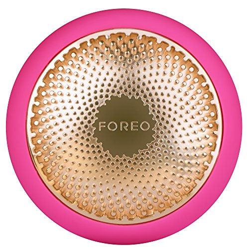FOREO UFO Smart Mask Treatment Device with Thermo/Cryo/LED Light Therapy and Sonic Pulsation, Fuchsia