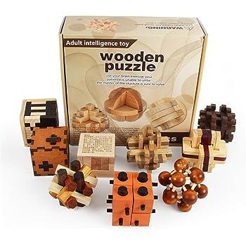 Holzsammlung Set da 9 Rompicapo in Legno Gioco di Cube 3D Puzzle - Perfetto Regalo di Natale per i Tuoi Famiglia #8