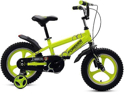 Bicyclettes pour Enfants Bicyclettes pour Enfants Bicyclettes Une Roue 2-3-4-5-6 Ans Poussette Bébé Et Fille Pédales pour Enfants 14 16 Pouces Noir Jaune Blanc