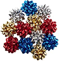 Hallmark Holiday Gift Bow Assortment (12 Bows) Sparkly Red, Blue, Gold, White for Christmas, Hanukkah, Birthdays,...