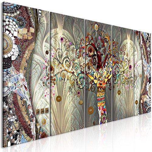 murando Quadro Gustav Klimt 225x90 cm Stampa su Tela in TNT XXL Immagini Moderni Murale Fotografia Grafica Decorazione da Parete 5 Pezzi Albero l-A-0032-b-m