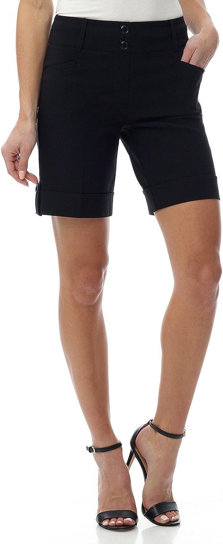 Rekucci Women's Ease into Comfort 8 inch Chic Urban Short