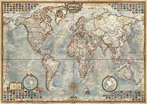 SiJOO Rompecabezas para Adultos Mapa del Mundo Antiguo 1000 Piezas 1000 Piezas