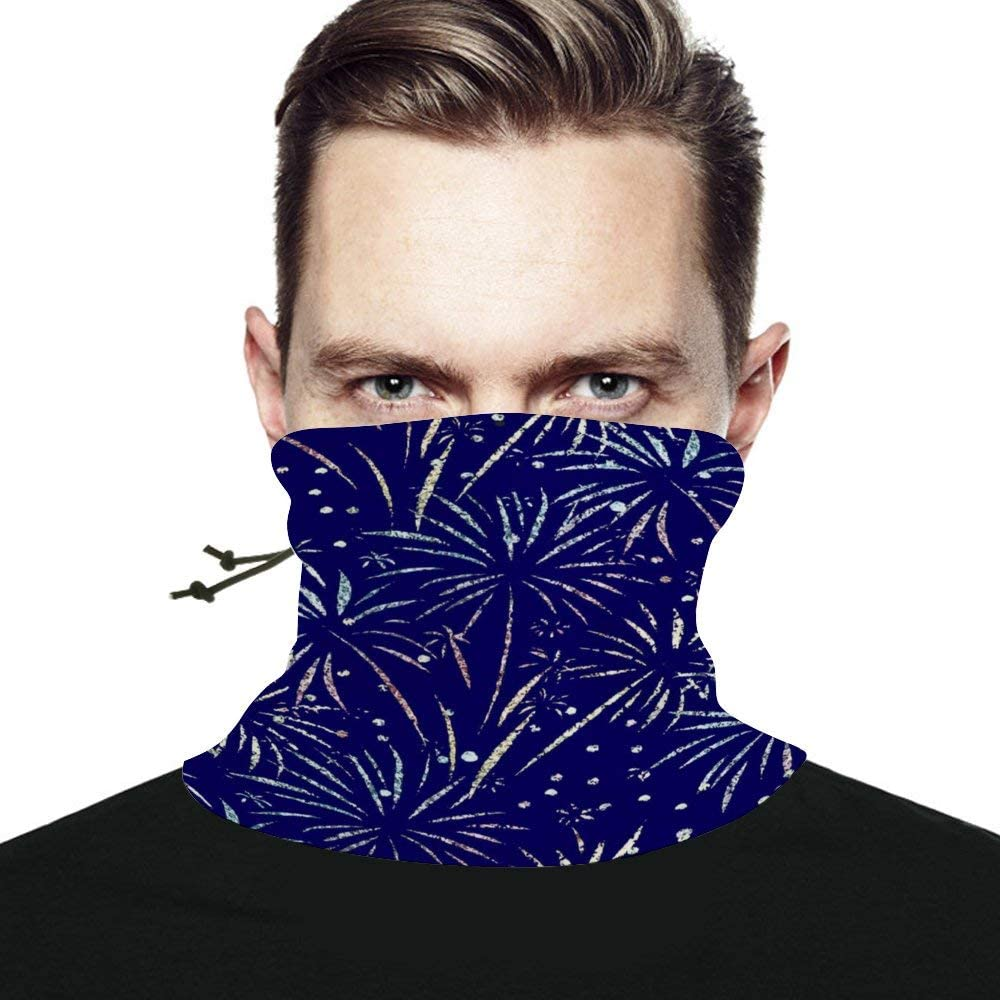 Glitter Foil Unisex Winter Neck Gaiter Warmer Scarf Windproof Multifunctional Face Mask Bandana Reusable for Cold Weather Skiing Running Outdoor Sports