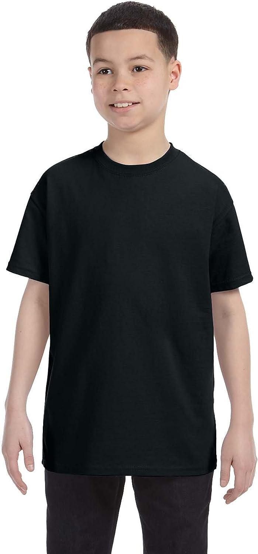 Jerzees Boys Heavyweight Blend T-Shirt(29B)-Black-XS