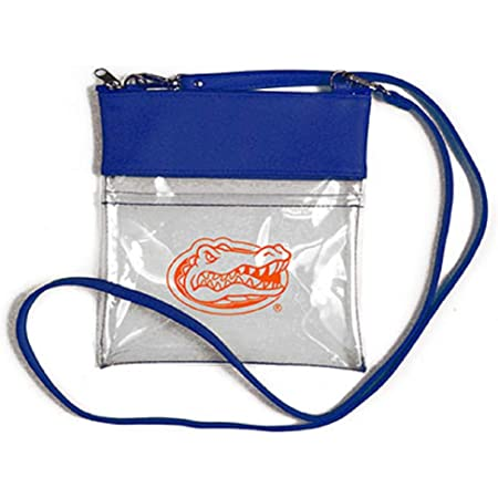 stadium purse from upcycled jeans Stadium Wallet w RFID blocker card pocket /& crossbody strap clutch Game Day purse regulation size