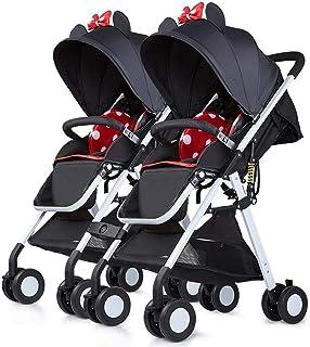 Baby Stroller, Baby Car,Travel Twin Stroller High Landscape Stroller Can Sit Lie Super Folding Portable Stroller (Color : E)