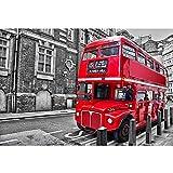 GYZ Puzzle, autobús de Londres, 300 Piezas de Rompecabezas. Bricolaje