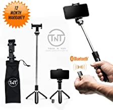 Extendable Selfie Stick, Bluetooth Remote Tripod - 4-in-1 Selfie Sticks iPhone X, 8, Plus, 7, Plus, 6, Android, Galaxy - Compact, Travel-Size, Lightweight, Professional Photos