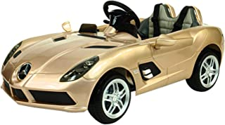 RAYAN TOYS Officially Licensed -AMG SLR Ride on Car GOLD, 12V
