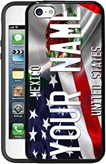 BRGiftShop Customize Your Own Mixed USA and Mexico Flag Rubber Phone Case for Apple iPhone 5c