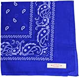 Soophen Paisley One Dozen Cowboy Bandanas (Royal Blue 22 X 22 in, 12-Pack)