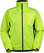 Mountain Warehouse Adrenaline Mens High Visibility Jacket - Breathable Mens Coat, High Viz, Adjustable Hem, Waterproof Rain Coat - for Winter Cycling, Running & Walking
