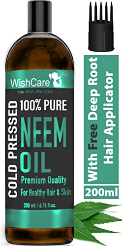 Wishcare Cold Pressed Neem Oil 200 Ml 100 Pure Wild Crafted For Skin Hair