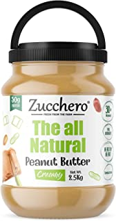 Zucchero All Natural Peanut Butter, Creamy, 2.5Kg - Unsweetened | 100% | Protein: 30G