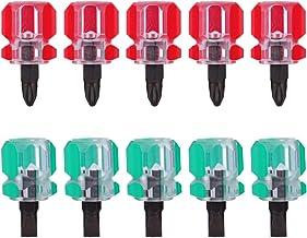 ULTECHNOVO 10 stycken symaskiner reparera små skruvmejsel platt skruvdragare och korsskruvmejsel