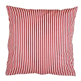 Hans-Textil-Shop Kissenbezug 40x40 cm Streifen 5 mm Rot (Deko, Sofa, Kissen, Kissenhülle,...