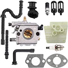 Dalom MS260 Carburetor w Air Filter Fuel Line Kit for STIHL MS240 024 026 024AV 024S Chainsaw Parts Walbro WT-194 Carb