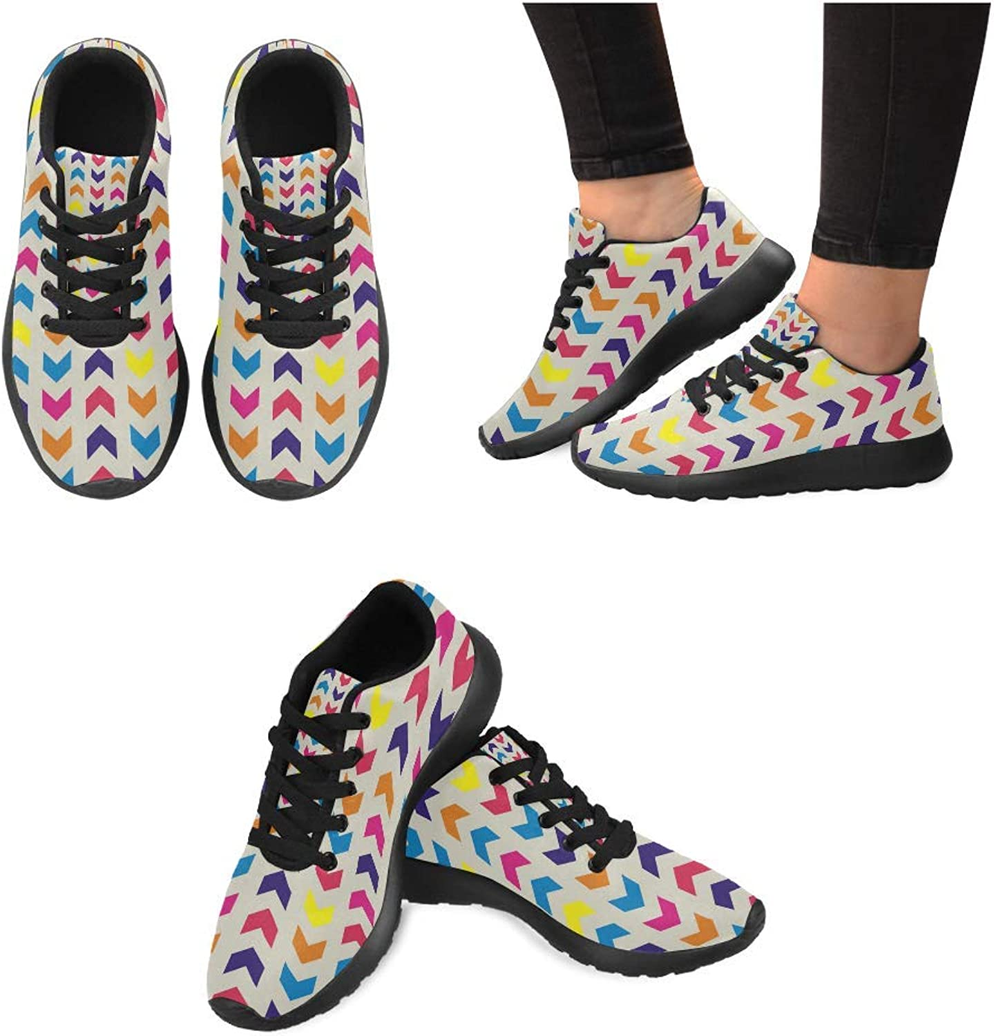 Women Lightweight Casual Sneaker Running shoes Chevron Arrow Prints