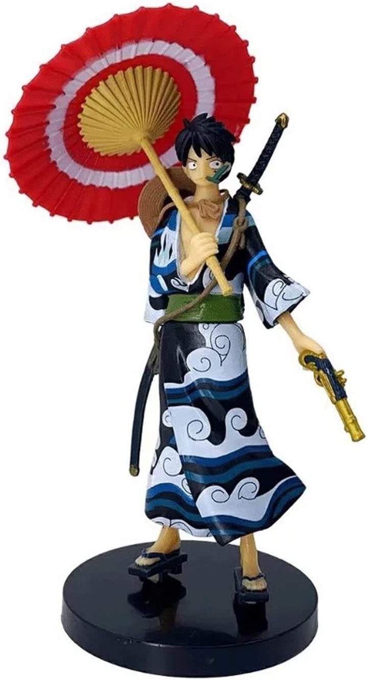 One Indianapolis Mall Piece Kimono Straw Financial sales sale Hat Luffy Action Figure PVC 7 Inche Boxed