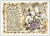 Die Staffelei Geschenk Konditor Konditorei Bäckerei Zeichnung Color 20 x 15 cm -