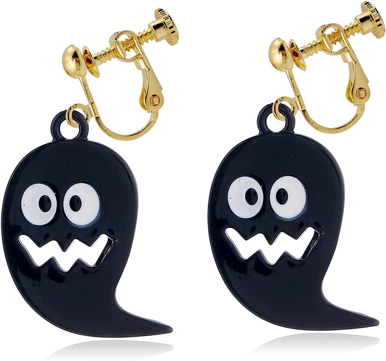 Halloween Dangle Earrings Pierced Ghost Drop Dangling Earring Fashion Jewelry for Women Girls