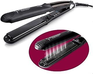 Vinmax - Plancha de vapor profesional para pelo, plancha de cerámica, plancha plana, control de temperatura, control LED de temperatura