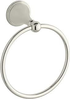 KOHLER K-363-SN Finial Traditional Towel Ring, Vibrant Polished Nickel