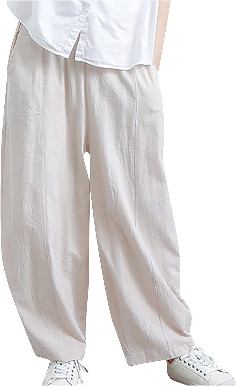 MIVAMIYA Womens Flowy Beach Pants Comfy Boho Pants Jogger Palazzo Lightweight Lounge Pants Loose Baggy Pajama Pants