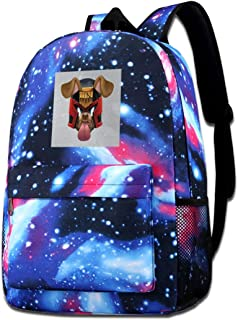 Galaxy Printed Shoulders Bag Judge Dredd Dog Snapchat Filter Fashion Casual Star Sky Backpack For Boys&girls