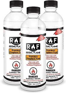 Regal Flame Premium Ventless Bio Ethanol Fireplace Fuel - 3 Quarts