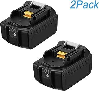 2Pack 6000mAh BL1860 18V Battery for Makita 18V BL1830B BL1860B BL1840B BL1815 LXT-400 with LED Indicator