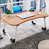 Laptop Bed Table, Portable Lap Desk Notebook Stand Reading Holder Breakfast Tray