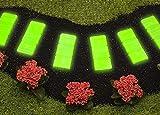 UPP, piastre da giardino fluorescenti, set da 6 pezzi