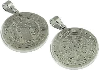 16 MM Solid Round - Saint Benedict Medal - Medalla San Benito 0.63 Inches Diam