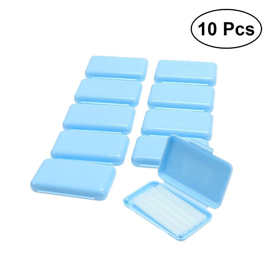 企業ためにSUPVOX 10PCS歯列矯正用矯正ワックス(青色ミントフレーバー)