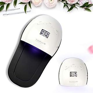 Lámpara de uñas Gel Profesional UV LED de la lámpara de esmalte de uñas profesional eficiente secador de uñas blanco y Negro Mosaico 48w llevó zapatilla de pantalla digital se puede quitar del fuselaj