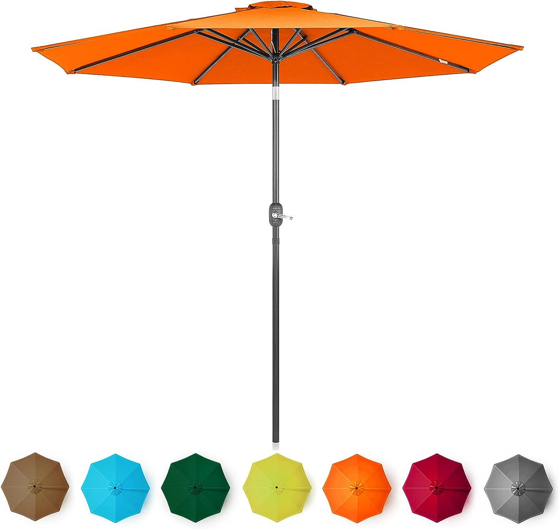 BELLEZE 9' ft Patio Umbrella Arlington Mall Direct stock discount UV Tilt Back Table Outdoor
