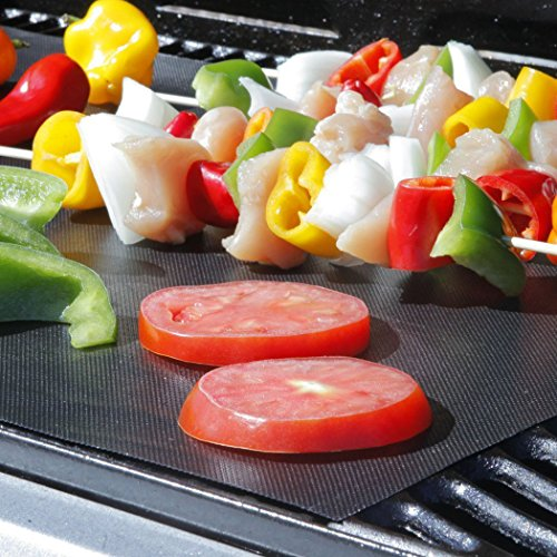 GoFriend BBQ Grill Mat Set of 5, Non-stick Barbecue Grill & Baking Mats for Baking on Gas, Charcoal, Oven and Electric…